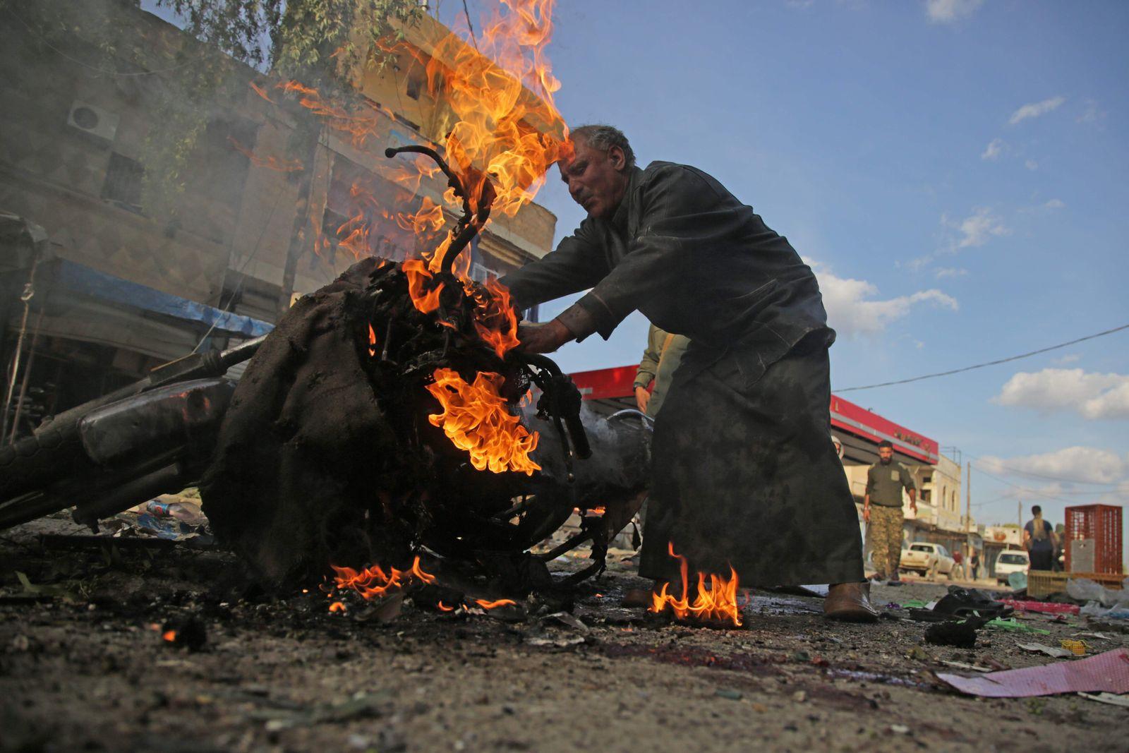 Tall Abjad Syrien Autobombe