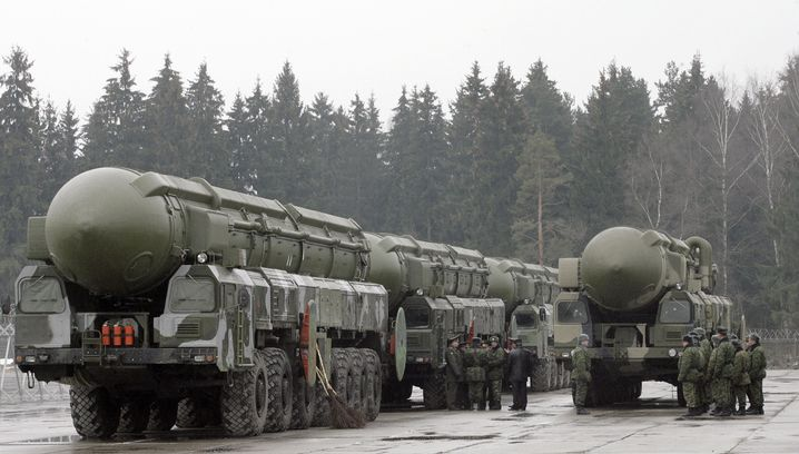 Russische Interkontinentalraketen (Typ Topol, 2010): In Dauerbereitschaft