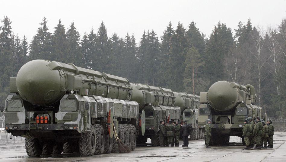 Russische Interkontinentalraketen bei Moskau (Archivbild 2008)