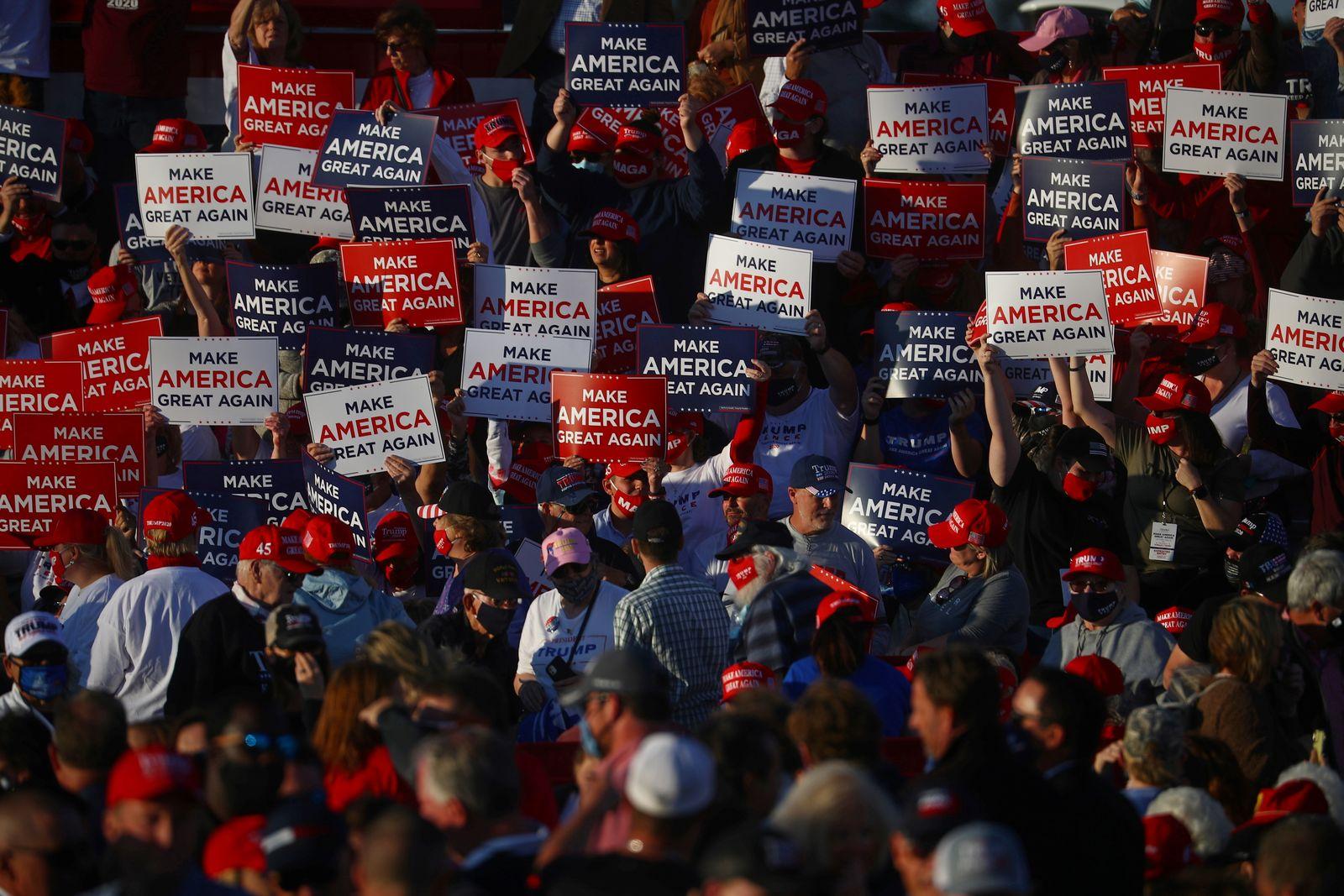 U.S. President Trump holds a rally in Hickory, North Carolina
