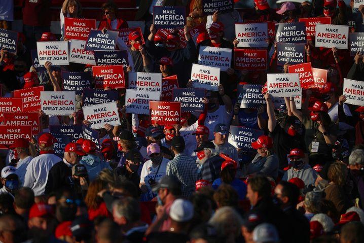 Hoffnung auf Durchmarsch: Trump-Anhänger in North Carolina