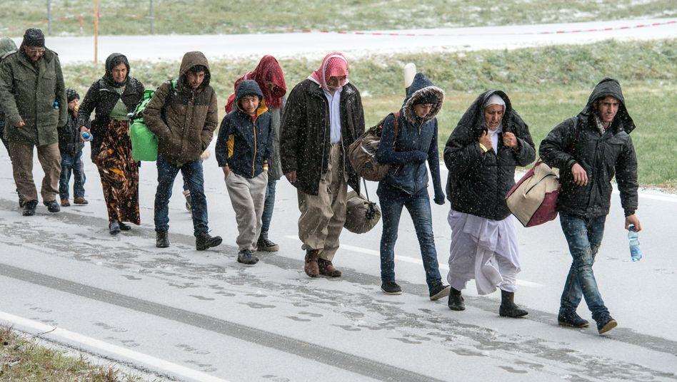 """Flüchtlinge an deutsch-österreichischer Grenze: """"Mehr geht nicht"""", sagt Haseloff"""