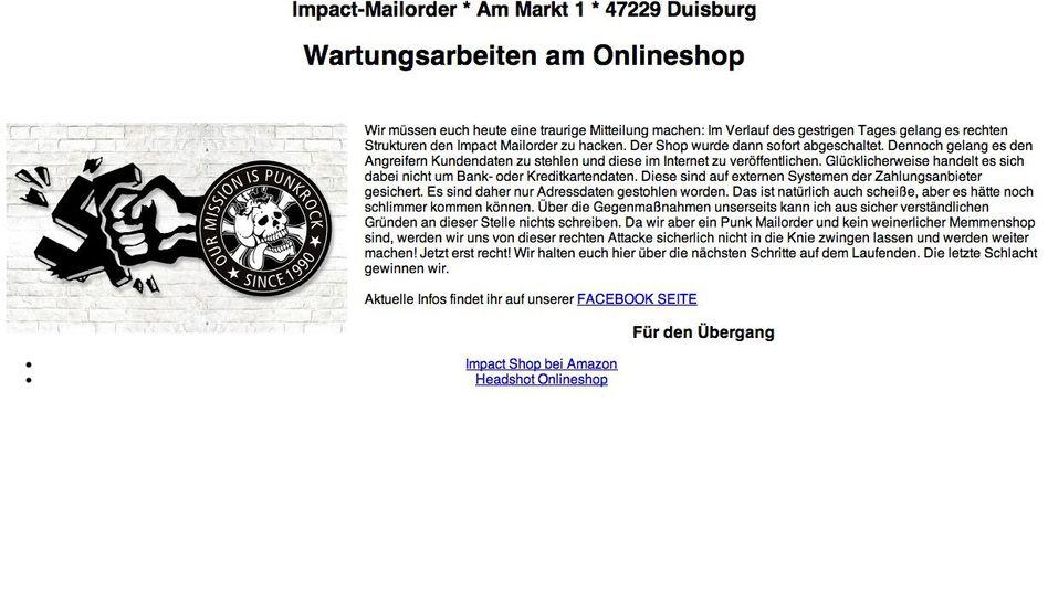 Webshop Impact Mailorder: 40.000 Kundenadressen veröffentlicht?