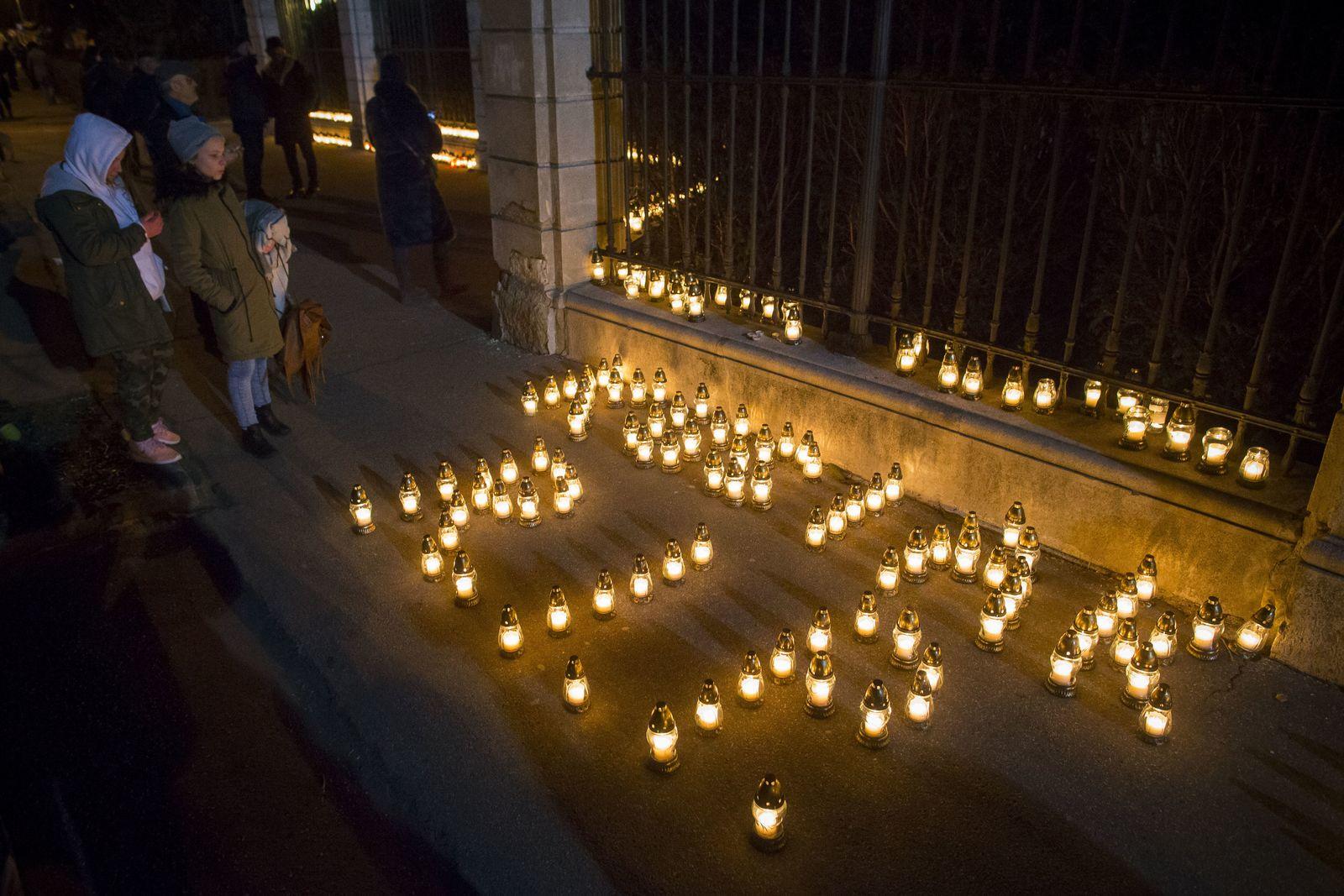 Jan Kuciak/ Gedenkmarsch nach Mord an Journalisten in Bratislava