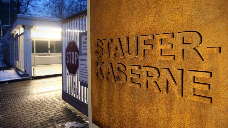 Eingang der Staufer-Kaserne in Pfullendorf