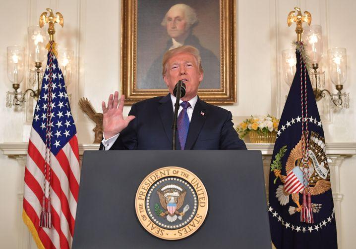 Donald Trump bei seiner Ansprache