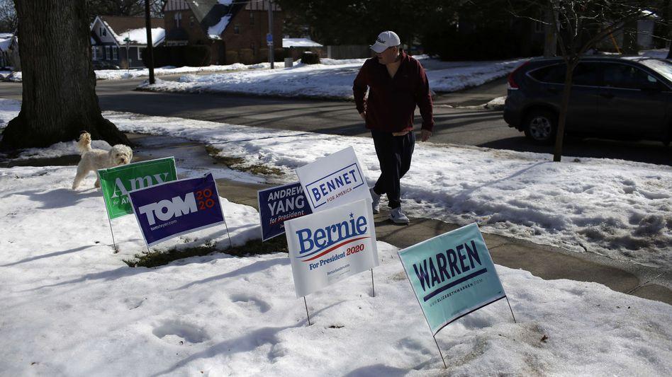 Bis zum letzten Wähler: Kandidatenwerbung in Des Moines, Iowa
