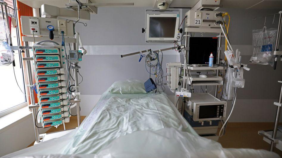Intensivbett an der Uniklinik Rostock