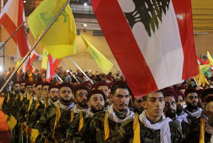 Pro-iranische Kämpfer der Hisbollah in Beirut