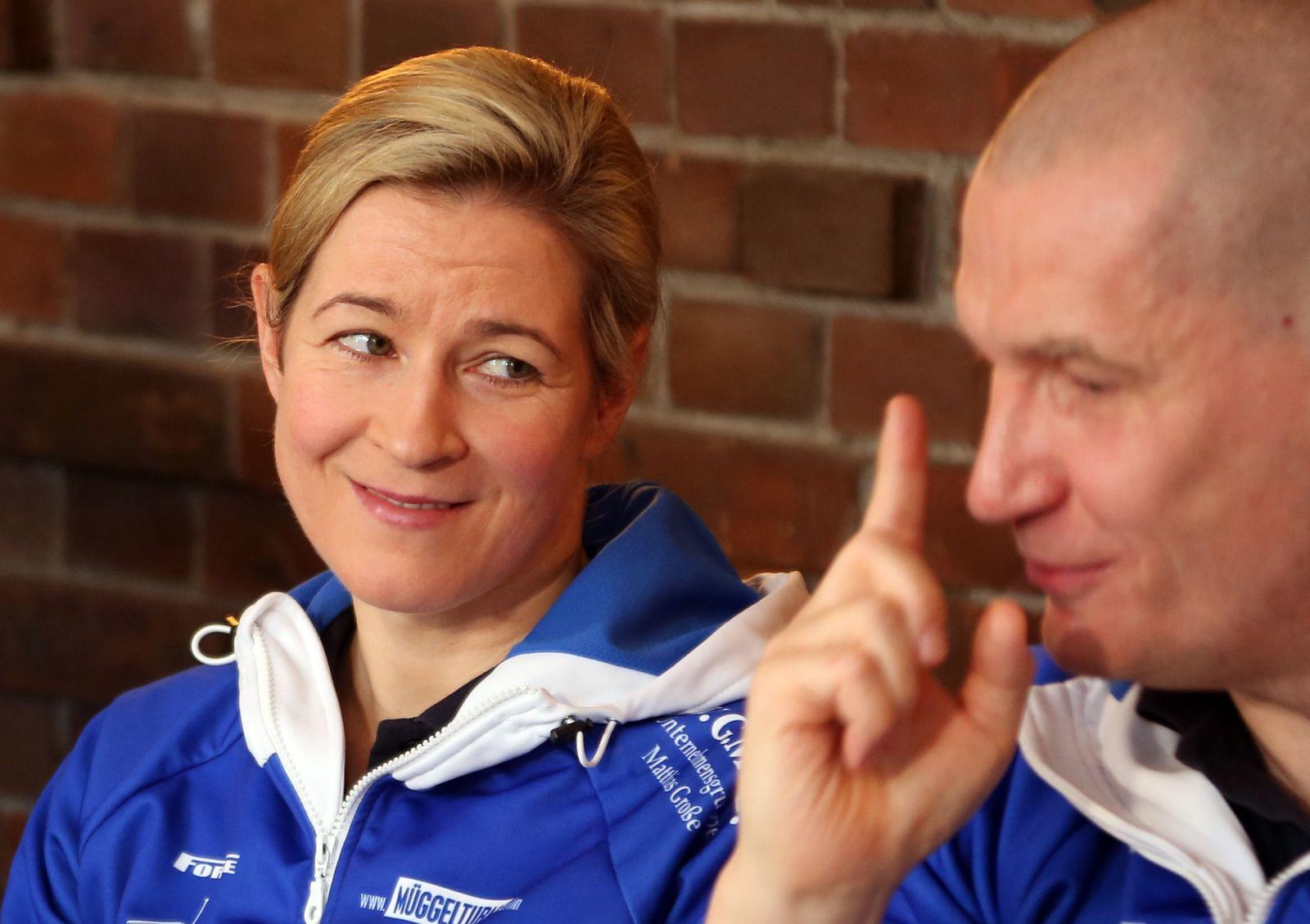 Claudia Pechstein und Matthias Große
