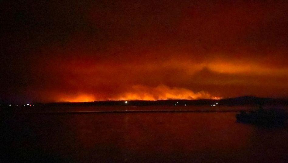 Feuer über Mallacoota, Victoria