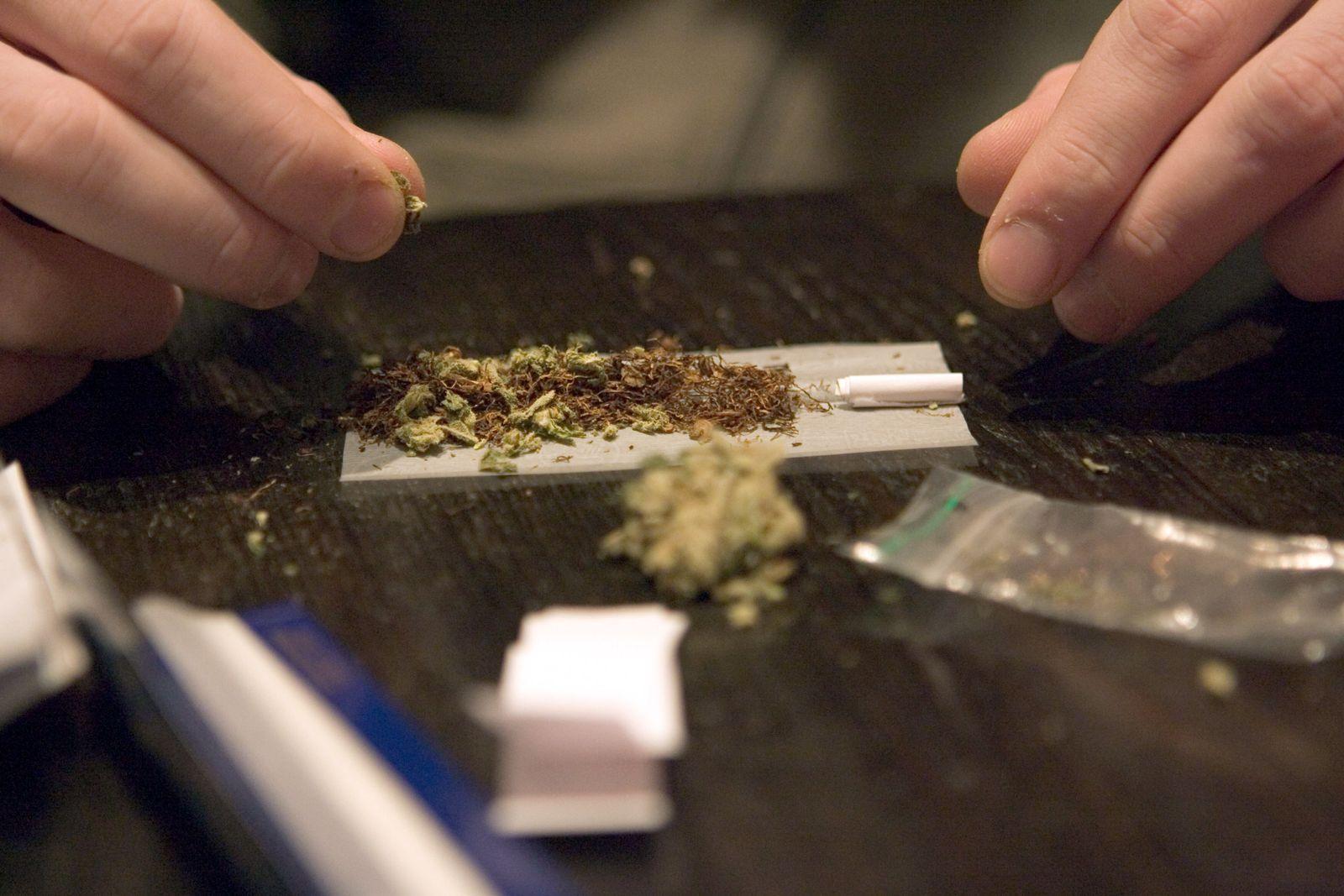 Coffeeshop in den Niederlanden / Joint bauen / Kiffen / Marihuana