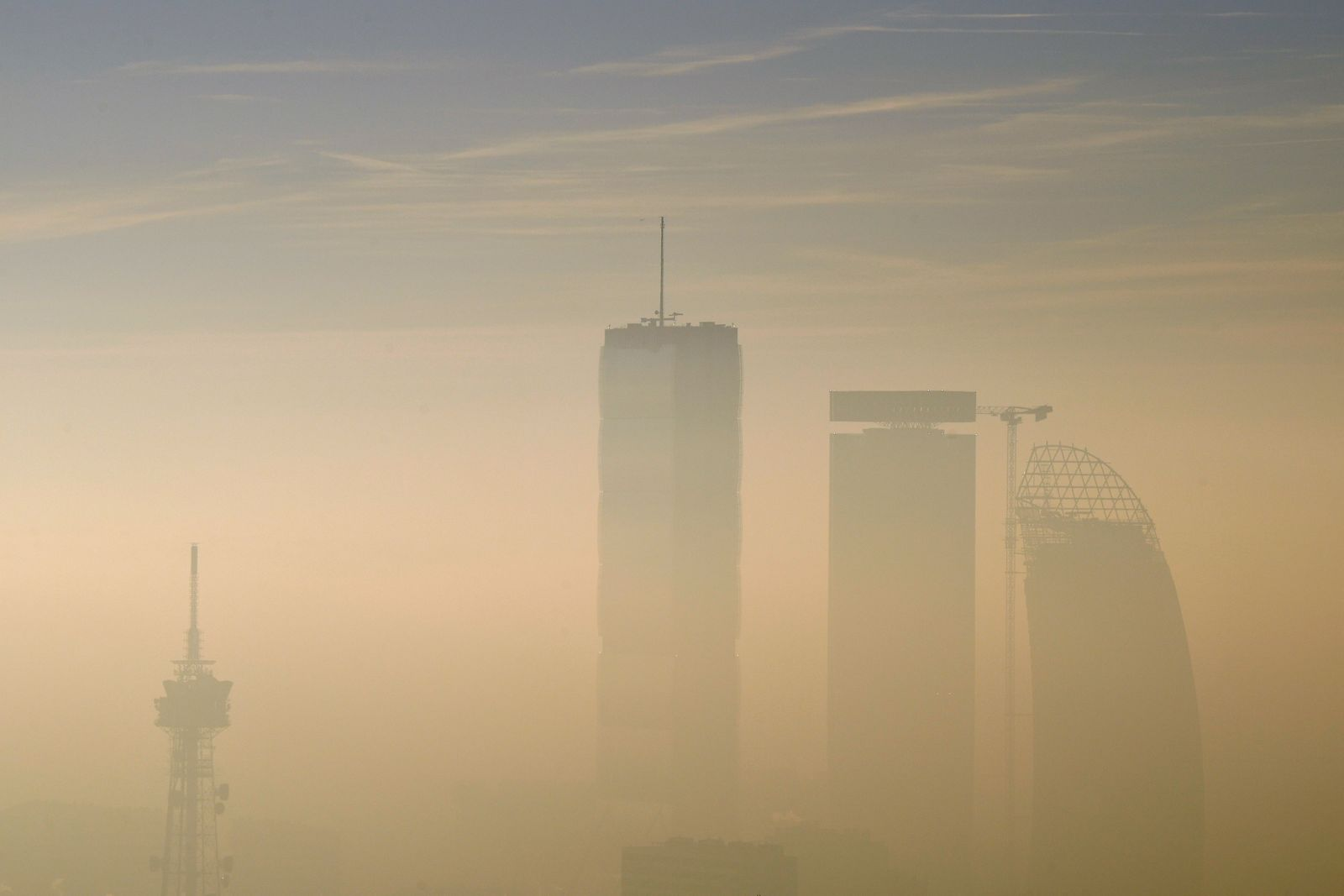FILE PHOTO: Fog and smog in Milan
