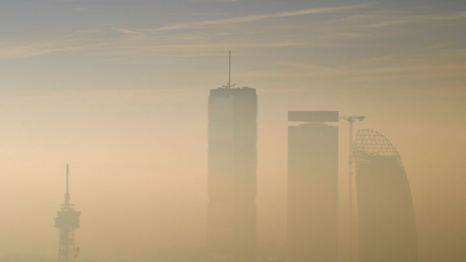 Smog in Mailand (im Januar 2020)