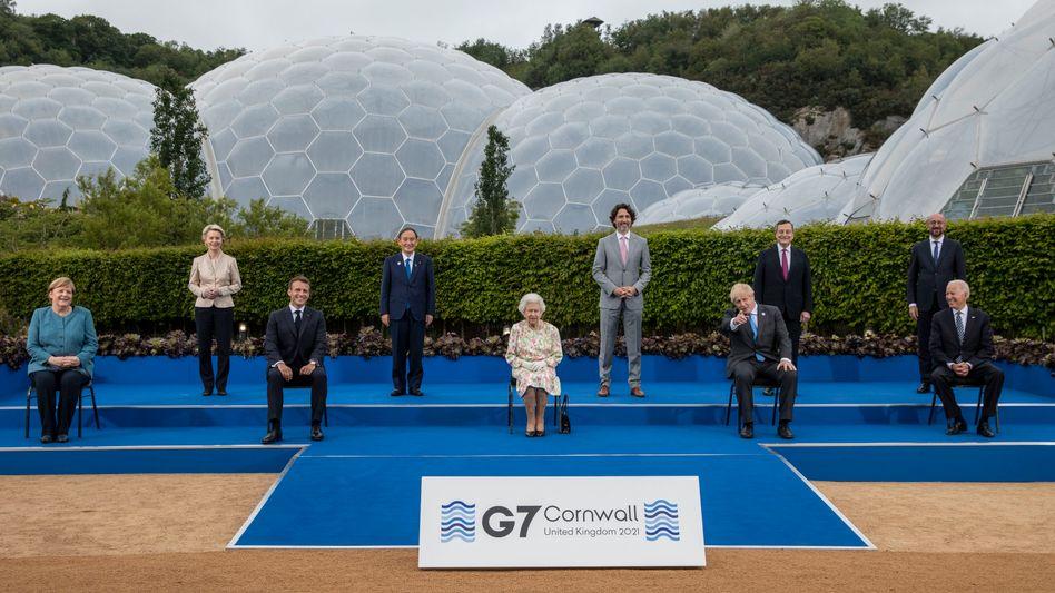 Vertreter der G7-Länder in Cornwall
