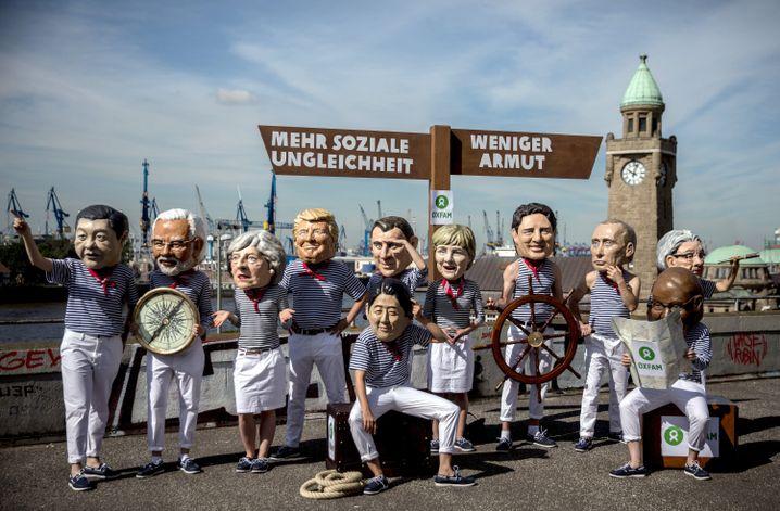 Oxfam activists in Hamburg