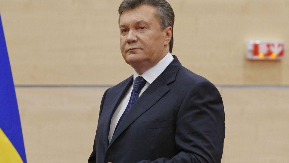 Gestürzter Staatschef Janukowytsch: Überstürzte Flucht aus Kiew
