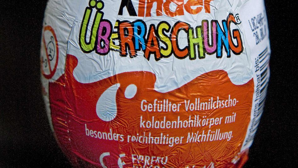 A Kinder Surprise egg in Germany. Rejected in the US.