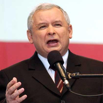 Furious: Polish Prime Minister Jaroslaw Kaczynski.