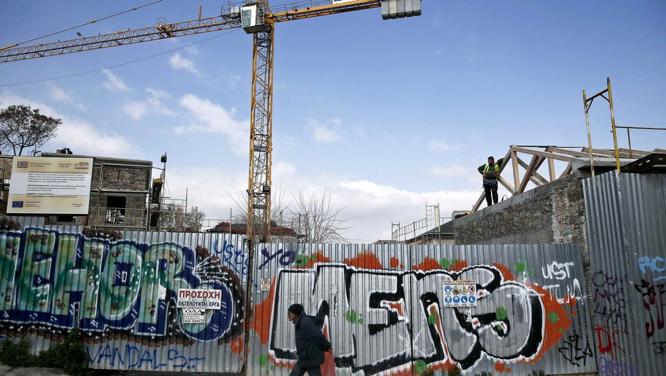 Baustelle in Athen: Griechenland geht das Geld aus