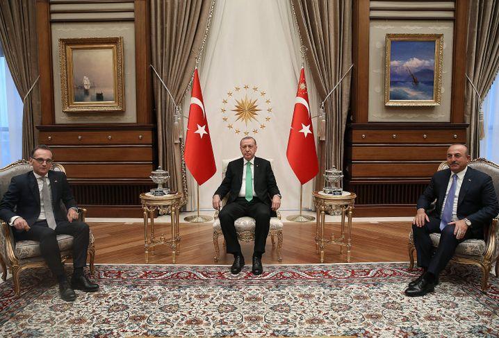 Maas, Erdogan, Cavusoglu