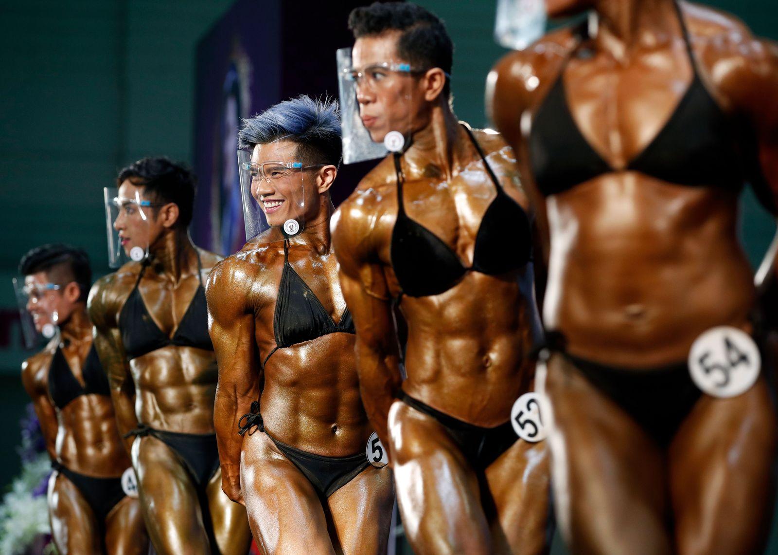 Mr. Thailand 2020 Bodybuilding contest in Bangkok - 21 Aug 2020