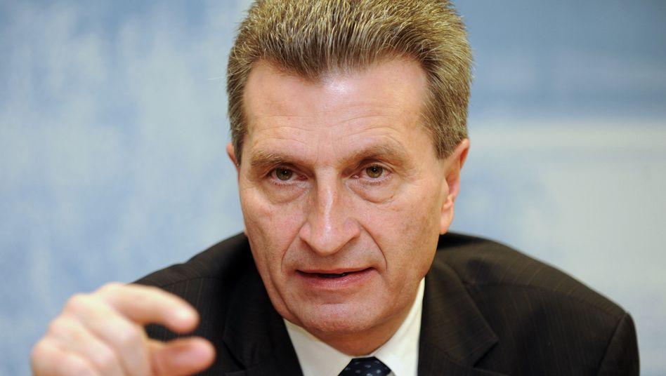 Der damalige Ministerpräsident Oettinger: Parlament und Öffentlichkeit nicht informiert