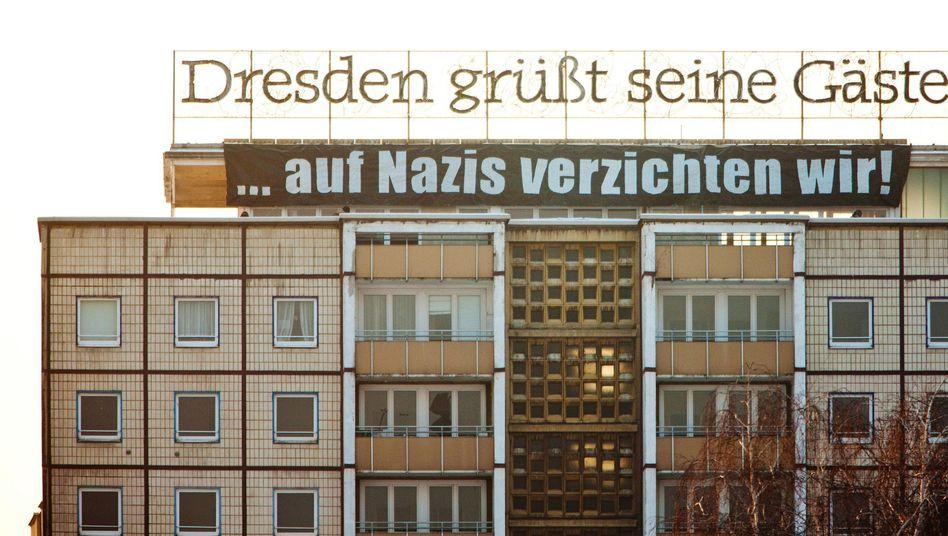 Protest gegen Neonazi-Aufmarsch: In keiner Stadt ist die Erinnerung so präsent