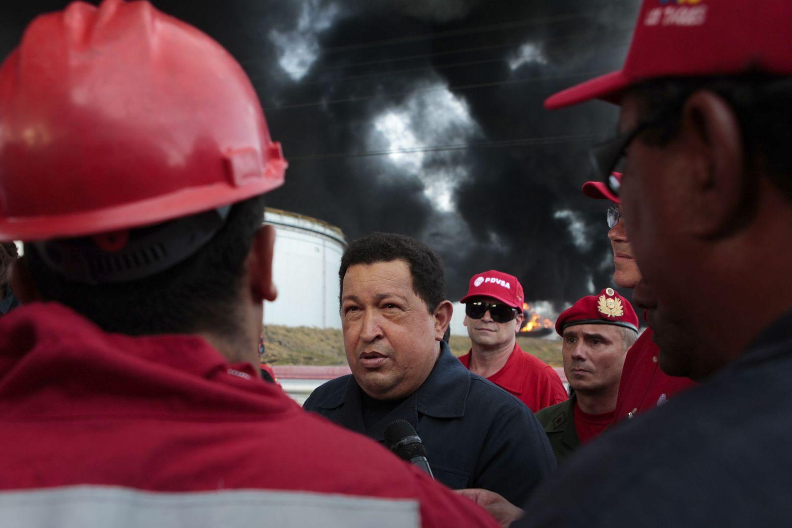 Hugo Chavez / Öl-Arbeiter / Venezuela