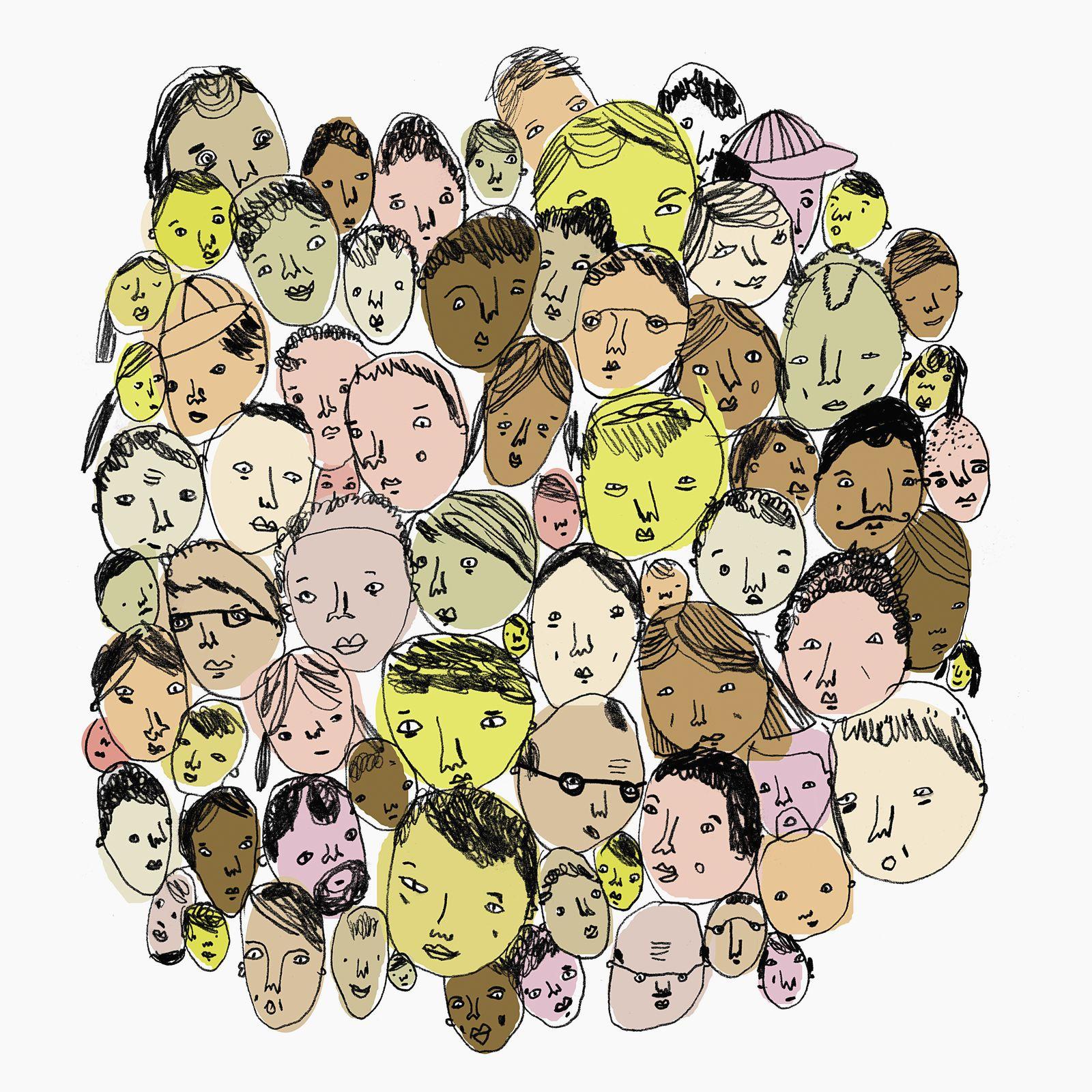 EINMALIGE VERWENDUNG Migration/ Menschen/ Hautfarben