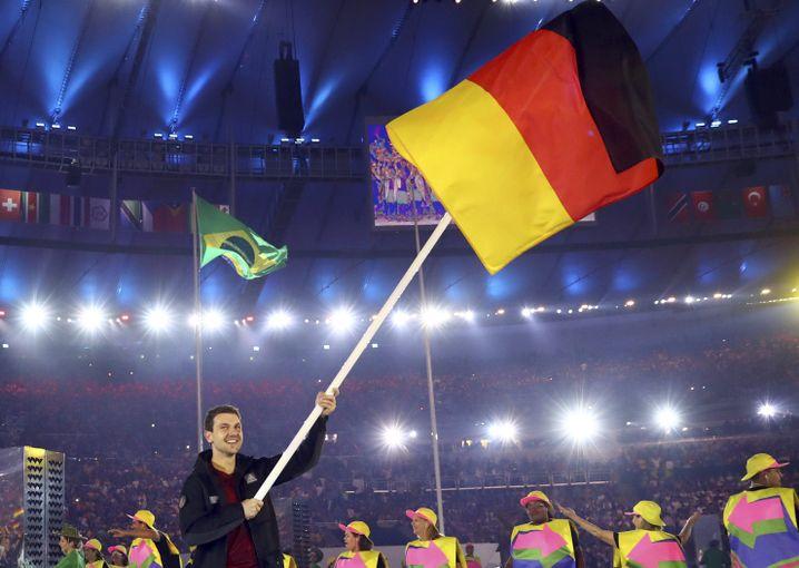 Boll als Fahnenträger bei den Sommerspielen in Rio 2016