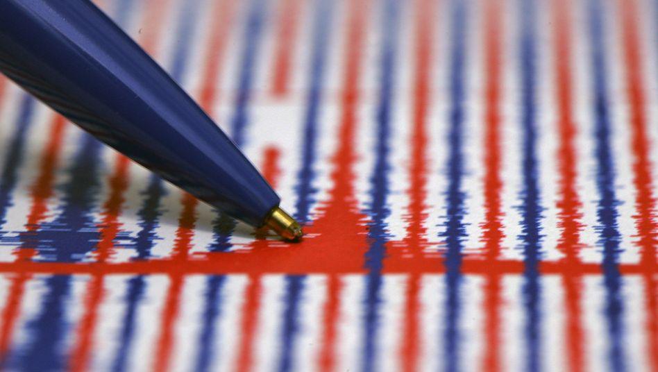 Seismografen-Ausdruck eines Erdbebens in Hessen (Archivbild von 2010)