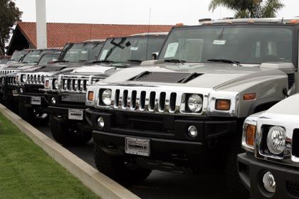 Will General Motors' übermacho Hummer line of SUVs be the first victim of the global energy crisis?