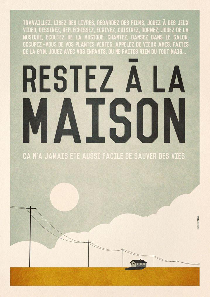 """Französische Version des Plakats: """"Das Ganze hat nicht länger als eine halbe Stunde gedauert."""""""