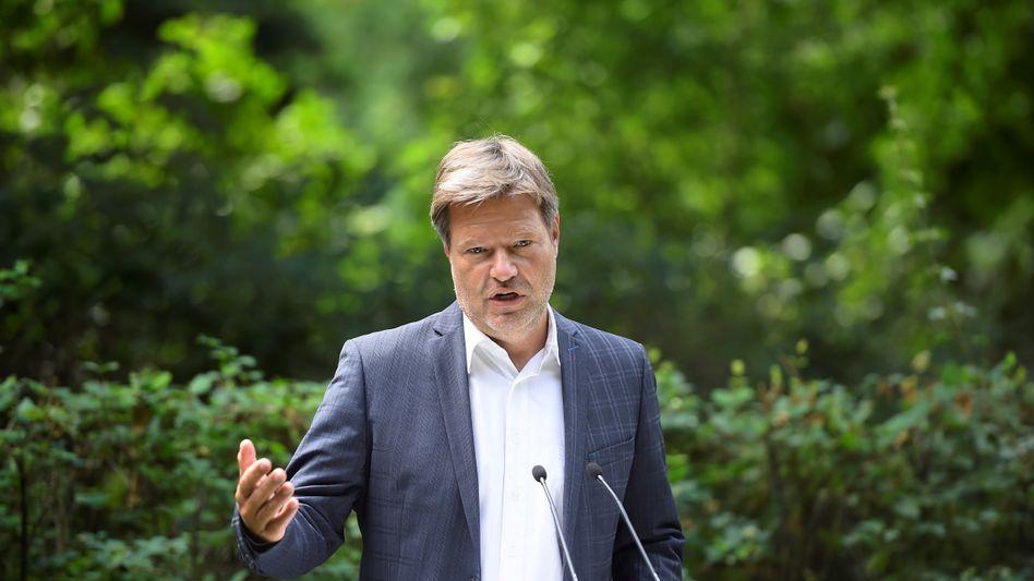 Wahlkämpfer Habeck (am Dienstag in Biesenthal, Brandenburg): »Der Wald ist ein Sehnsuchtsraum«