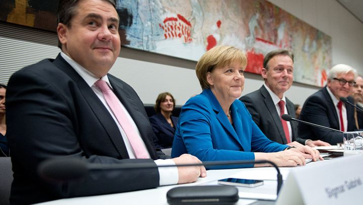 Große Koalition: Gute Laune bei Schwarz-Rot