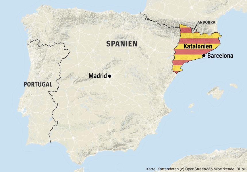Karte Katalonien, Spanien v2