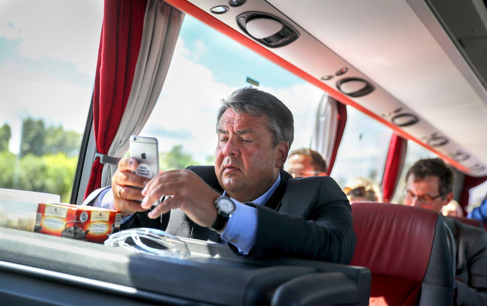 Sommerreise des SPD-Bundesvorsitzenden Gabriel