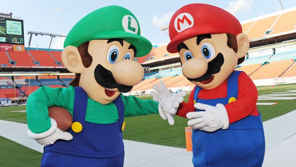 Nintendo-Figuren Luigi und Mario: Bislang auf Nintendo-Konsolen beheimatet