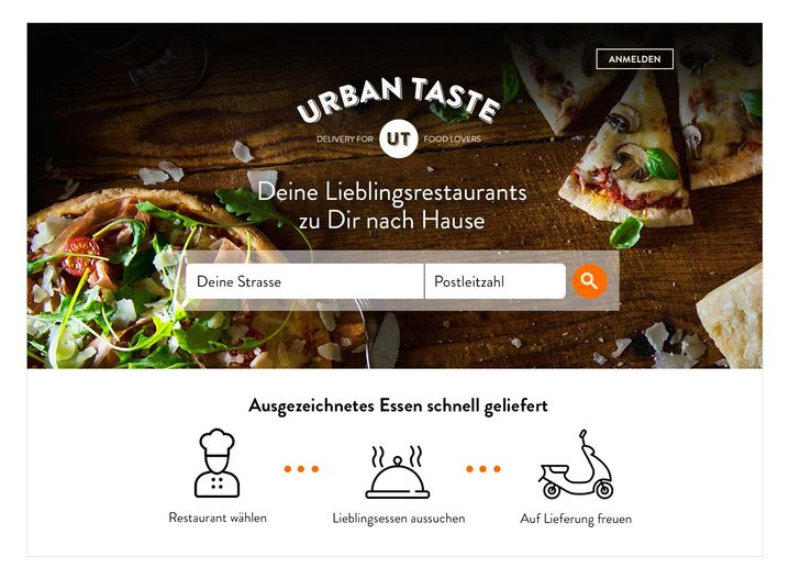 Screenshot der Urban-Taste-Homepage: Pinienkerne statt billigem Hackfleisch