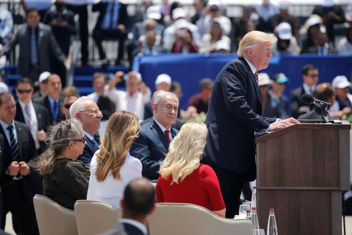 Donald Trump auf Ben-Gurion-Flughafen