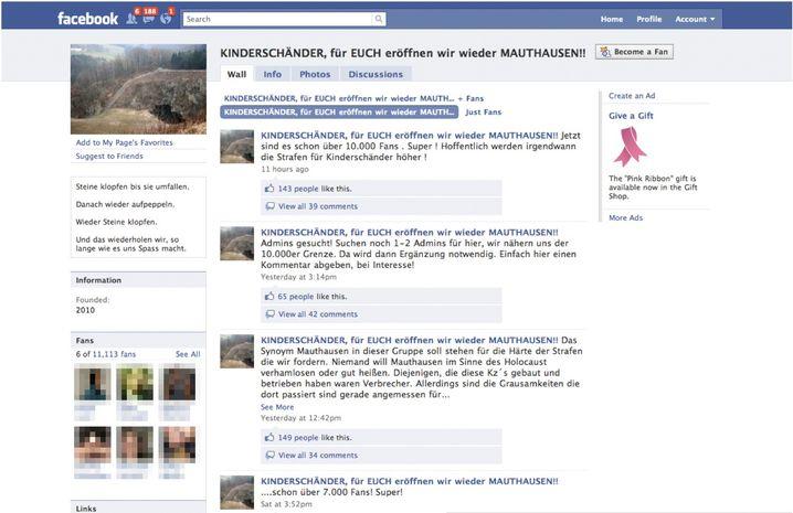 Facebook-Seite zur Wiedereröffnung des KZ Mauthausen: Fans mit echten Namen