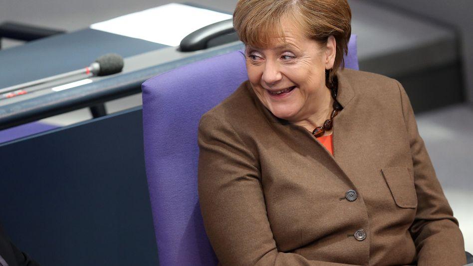 Bundeskanzlerin Angela Merkel: Unterstützung in der Flüchtlingskrise
