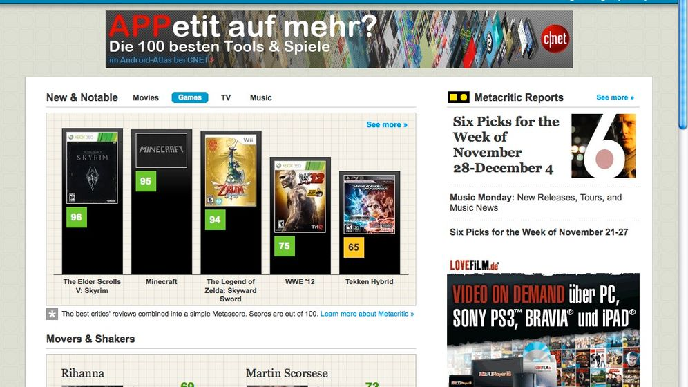 Metacritic und Co.: Mächtige Mittelwerte