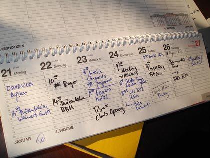 Voller Kalender: Wer lange genug aufschiebt, hat bald wirklich zu viel zu tun
