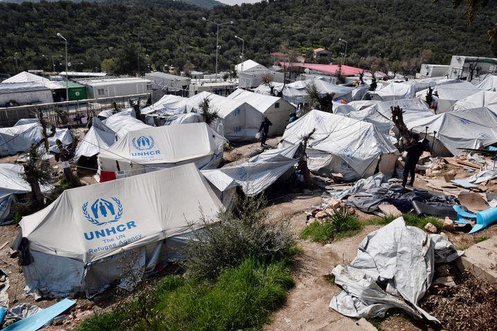 Flüchtlingslager Moria auf der Insel Lesbos