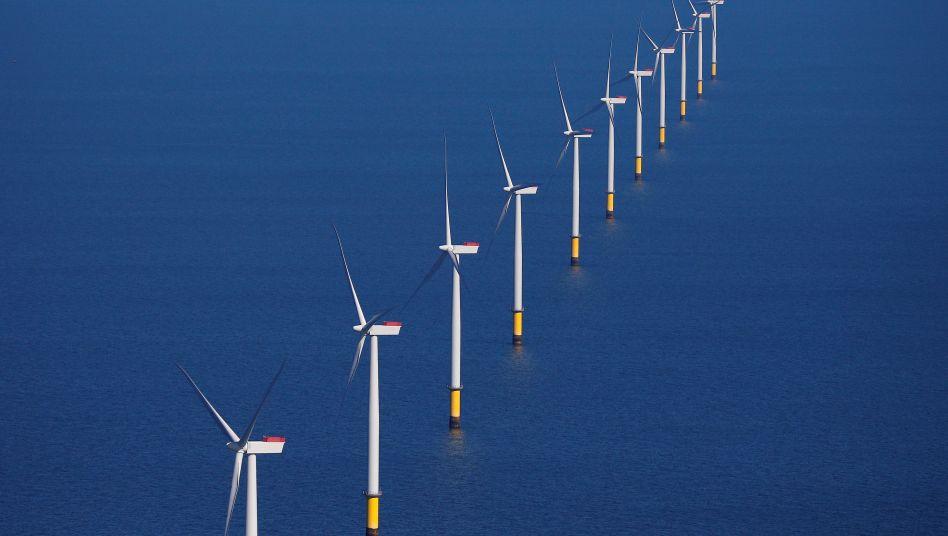 Orsted-Windpark vor Großbritannien: Der dänische Stromversorger setzt stark auf erneuerbare Energien