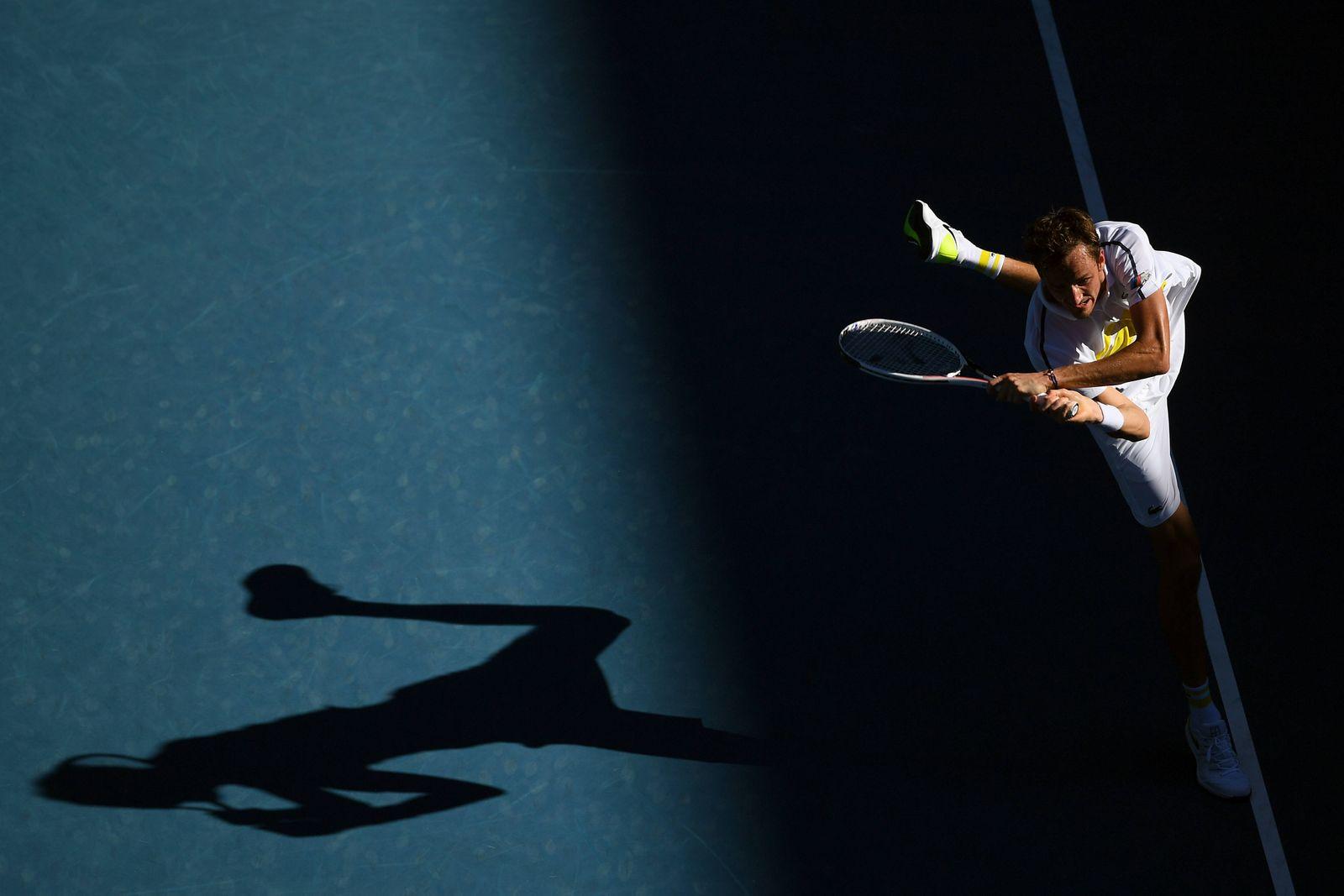 Sport Bilder des Tages TENNIS AUSTRALIAN OPEN, Daniil Medvedev of Russia in action during his Quarterfinals Men s single