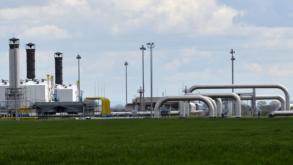 A natural gas delivery station on the Slovak border with Ukraine. EU is worried about supplies this winter.