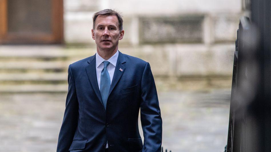 Jeremy Hunt am Dienstag vor einem Kabinettstreffen in London